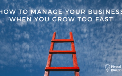 How to Manage Your Business When You Grow Too Fast